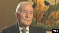 Former U.S. National Security Adviser Brent Scowcroft at prior VOA interview, undated file image (VOA).