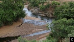 Officials say 33,000 liters of industrial oil spilled into this river late on July 12, 2012 potentially impacting the drinking water for millions of people in Zamfara and Sokoto states in Nigeria. (Photo courtesy Ivan Gayton)