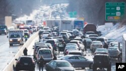 Kemacetan akibat kecelakaan lalu lintas di Bensalem, Pennsylvania, AS. (Foto: Dok)