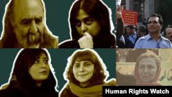 تعدادی از بازداشت شدگان روز کارگر