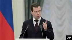 俄罗斯总统梅德韦杰夫 (资料照片)