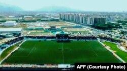 میدان ورزشی فدراسیون فوتبال افغانستان که با کمک پروژۀ گول اعمار شده است.