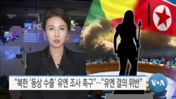 """[VOA 뉴스] """"북한 '동상 수출' 유엔 조사 촉구""""…""""유엔 결의 위반"""""""
