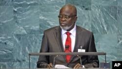 几內亞比紹總統桑哈2010年九月在聯合國發言