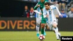Lionel Messi entró el segundo tiempo, pero no contribuyó con goles al triunfo argentino.