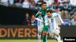 Lionel Messi à Seattle, Wisconsin le 14 juin 2016 contre la Bolivie dans le cadre de la Copa America 2016.