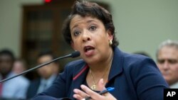 Attorney General Loretta Lynch testifies on Capitol Hill in Washington, July 12, 2016, before the House Judiciary Committee.