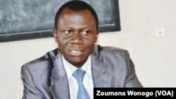 René Bagoro, ministre burkinabè de la justice, à Ouagadougou, au Burkina, le 20 mai 2017. (VOA/Zoumana Wonogo)