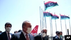 17 Haziran 2020 - Türkiye yetkililerinin Libya ziyaretinden bir kare