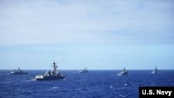 多国军舰参与2016年环太军演(美国海军照片)
