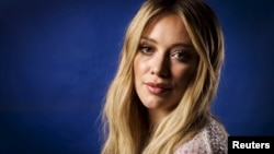 "Actress and singer Hilary Duff poses for a portrait while promoting her new album ""Breathe In. Breathe Out."" in New York, June 17, 2015."