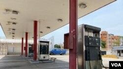 Estación de servicio abierta en Maracaibo, estado Zulia, Venezuela. Abril de 2021.