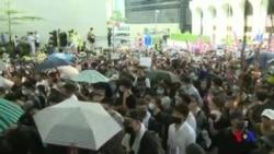 香港市民星期天繼續抗議 (粵語)