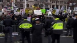 President Trump Parade Protesters
