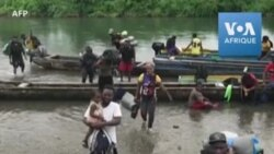 Des migrants avec enfants traversent la dangereuse jungle du Darien