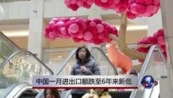 中国一月进出口额跌至6年来新低