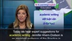 Anh ngữ đặc biệt: Tips for Writing (VOA)