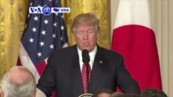 VOA60 America - Trump Touts Close Relationship with Japan After Meeting Abe