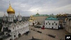Архитектурный ансамбль Московского Кремля. Россия (архивное фото)