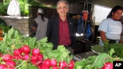 Bob Lewis with radishes