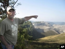 Chuck Nelson is a retired union coal miner who lives in an area affected by mountain top removal.