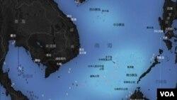 南海諸島分佈圖(維基共享)