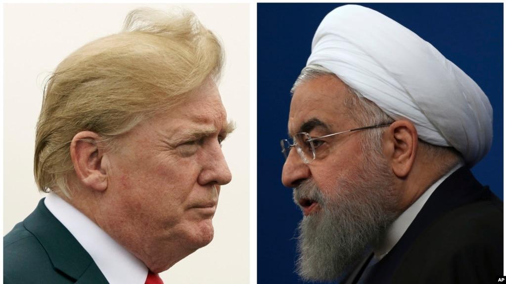 Tư liệu: Ảnh TT Mỹ Donald Trump (trái) chụp ngày 22/7/2018, và TT Iran Hassan Rouhani ngày 6/2/2018. (AP Photo)