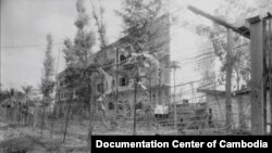 Office S-21, the Khmer Rouge central security office on the site of former Toul Sleng Secondary School, shortly after the overthrown of the DK regime, 1979. (Source: Documentation Center of Cambodia Archive)
