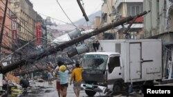 Tayfunda en çok hasar gören Tacloban kenti