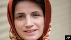 Nasrin Sotoudeh, an iranian lawyer and human rights activist, won a Sakharov Prize and is currently imprisoned under harsh conditions.