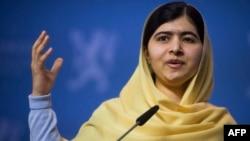 FILE - Nobel Peace Prize laureate Malala Yousafzai.
