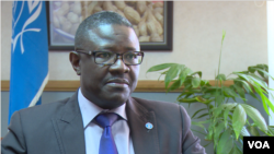 Patrick Kormawa, head of the U.N. Food and Agricultural Organization (FAO) in southern Africa, pictured here in Harare, Zimbabwe, Nov. 12, 2018, says depending on rain-fed agriculture on the continent is not a good idea anymore. (C. Mavhunga/VOA)