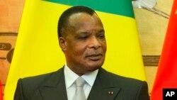 Le président de la République du Congo, Denis Sassou Nguesso, 5 juillet 2016.