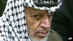 巴勒斯坦已故领导人阿拉法特。