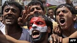 Người biểu tình trong thủ đô Sana'a của Yemen hô khẩu hiệu đòi Tổng thống Saleh từ chức
