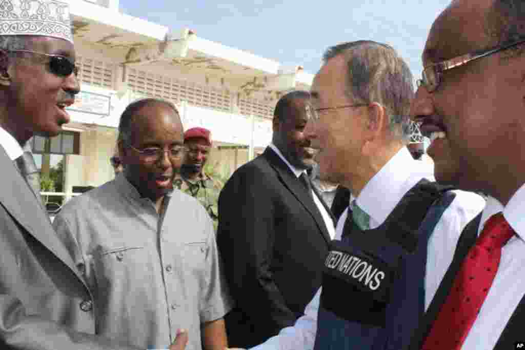 Booqashadii Ban Ki-moon ee Muqdisho