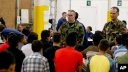 Central American immigrant children were being processed and held at the U.S. Customs and Border Protection