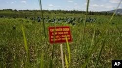 Upozorenje u kontaminiranom polju blizu aerodroma Danang