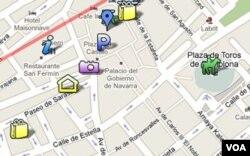 En el ejemplo hemos creado un mapa personalizado de Pamplona, España, con fotos tomadas en la calle.