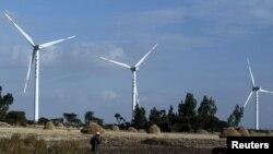 Ảnh minh họa tháp điện gió.