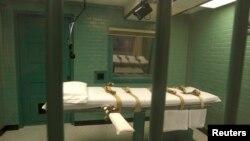 Une chambre de la mort au pénitencier de l'Etat à Huntsville, au Texas, 29 septembre 2010.