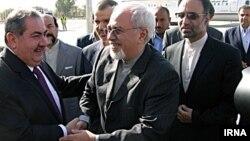 استقبال هوشیار زیباری وزیر امور خارجه عراق از محمدجواد ظریف همتای ایرانی خود در عراق -۱۷ شهریور ۱۳۹۲