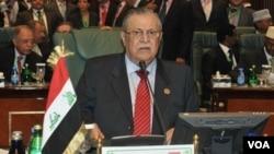 Jalal Talabani terpilih kembali sebagai Presiden Irak dalam pemungutan suara di parlemen.