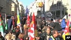 A protest in Paris, 21 Oct 2010