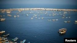 Vista del puerto de Gaza. En abril Israel extendió a pescadores de Gaza la distancia que les permite salir al mar a lo largo de ciertas partes de la costa del enclave.