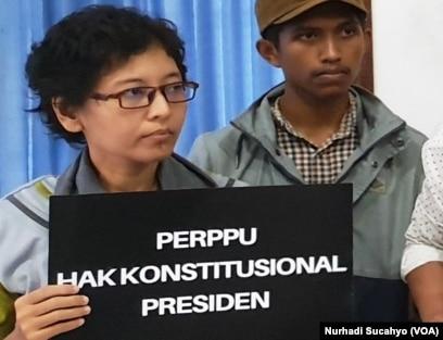 Dyah Roesusita pegiat Perempuan Indonesia Antikorupsi. (Foto: VOA/Nurhadi Sucahyo)