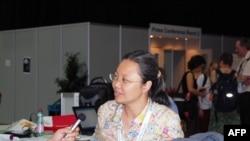 联合国儿童基金会官员许文青接受采访