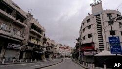 Kolanek li Ammanê, Urdunê, di dema vîrusa korona, 21'ê Adarê, 2020.