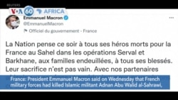 VOA60 Africa- French forces say they have killed leader of Islamic State in the Greater Sahara
