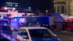 Truck Drives Through Berlin Market